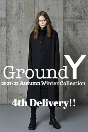 Now in stock is the 4th delivery from the Autumn Winter collection of Ground Y 2021-22.