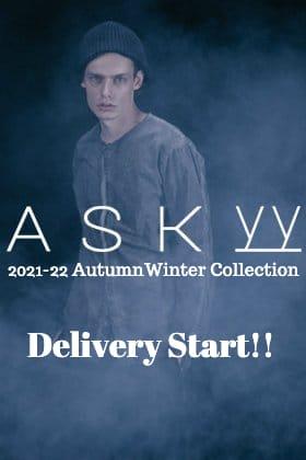 ASKyy(アスキー)より2021-22秋冬コレクションのデリバリーが始まりました!