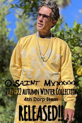 From now on, SAINT MICHAEL 2021-22 Fall and Winter Collection 4th Drop items will be sold at the same time in mail order and stores!!