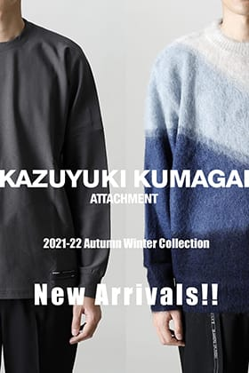 A new item from ATTACHMENT & KAZUYUKI KUMAGAI 2021-22 Autumn-winter collection is now in stock.