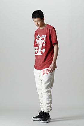 SAINT MICHAEL x DENIM TEARS Collaboration T-shirt styling