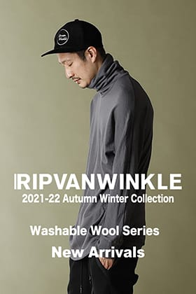 RIPVANWINKLE 2021-22 AW Collection Washable Wool Series is now available!!