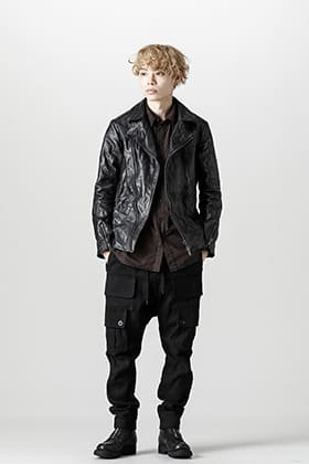 FASCINATE Limited Guidi Hose Leather Double Rider Jacket Black