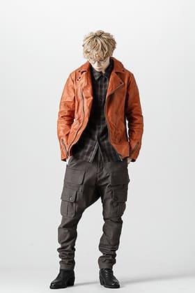 Devoa Antique color Double Riders Jacket style