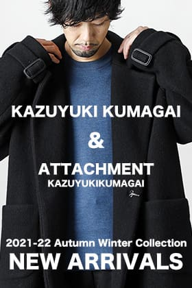A new winter item from ATTACHMENT & KAZUYUKI KUMAGAI 2021 -22 fall/winter collection is now in stock!