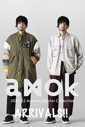 Now in stock is a new item from the amok 2021 -22 AW collection.