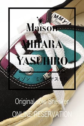Maison MIHARAYASUHIRO original sole sneakers available for pre-order in October!!
