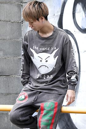 SAINT MICHAEL 2021-22AW Collection Satan Long sleeve T-shirt Styling