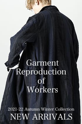 GARMENT REPRODUCTION OF WORKERSから新作が入荷しました。