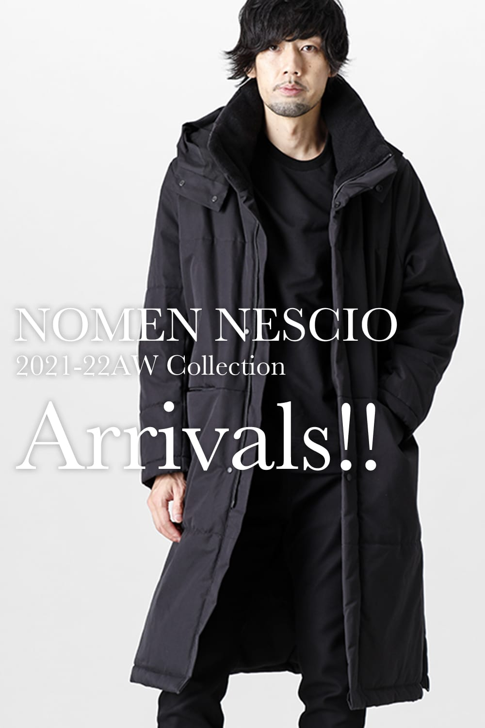 The NOMEN NESSCIO 21 AW collection, which is handled by .LOGY Kyoto (Kyoto Fujii Daimaru), is now in stock!