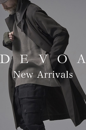 The new items from DEVOA 21-22 AW is now in stock.