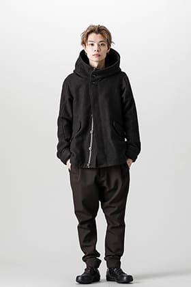 DEVOA(デヴォア)フーデッドジャケット ウールヘリンボーン スタイル