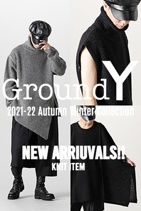 Now in stock is a new knit from the Ground Y 2021-22AW Collection.