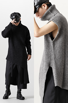 This item is made with Ground Y 2021-22AW knit for autumn styling.
