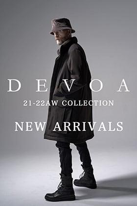 DEVOA(デヴォア)から21-22AWの最終入荷がありました。