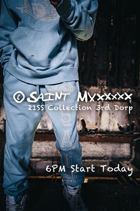 ©️SAINT M×××××× - セントマイケル  21SS Collection 3rd Drop 18時よりオンライン販売開始!