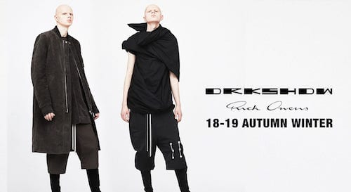 DRKSHDW 18-19AW collection