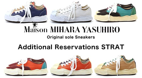 This is the pre-order page for the Sneakers Collection by Maison MIHARAYASUHIRO