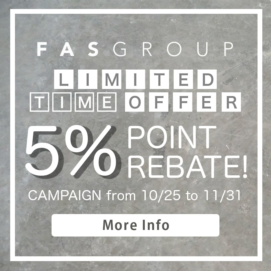 FAS-GROUP LIMITED TIME OFFER CAMPAIGN: 5% POINT REBATE