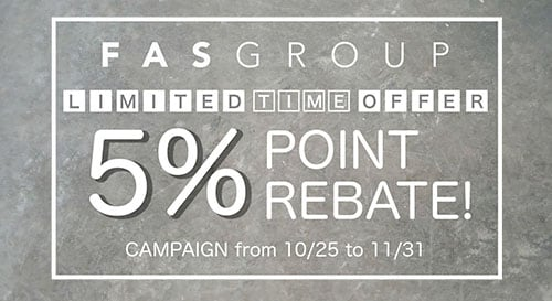 LIMITED TIME OFFER 5% POINT REBATE CAMPAIGN
