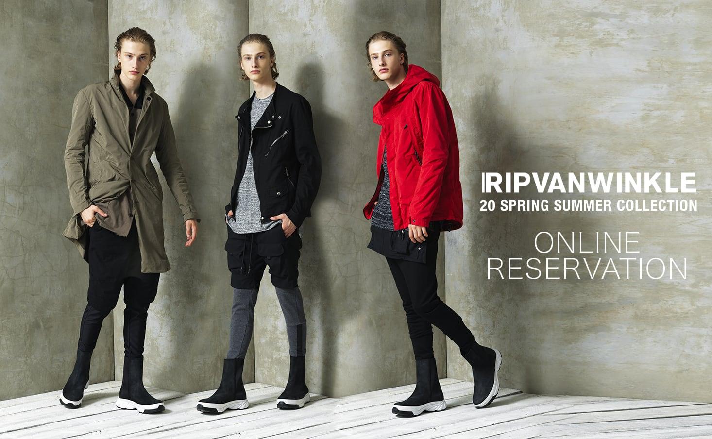 RIPVANWINKLE(リップヴァンウィンクル) 2019-20AW(秋冬)コレクションの予約受付