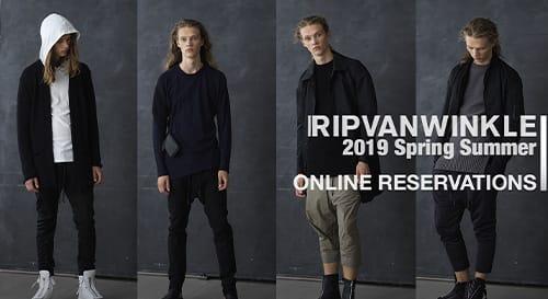 RIPVANWINKLE 2019 Spring Summer Reservations
