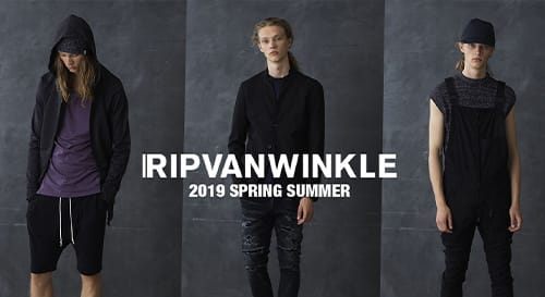 RIPVANWINKLE 2019 Spring Summer Collection