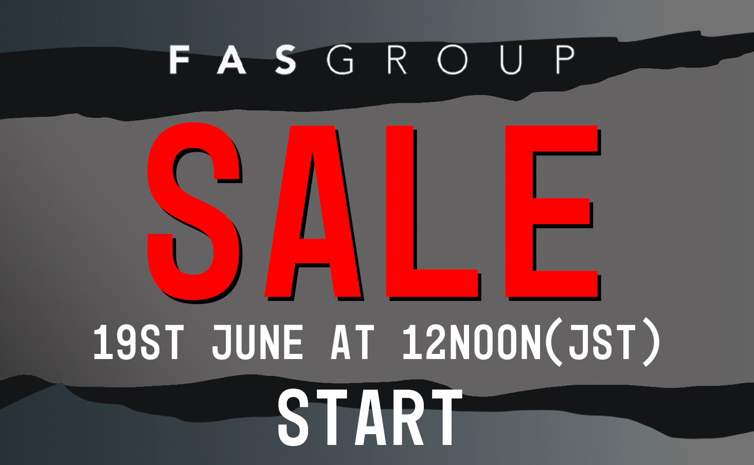 The sale will start at 12 noon on Saturday, June 19 on the online site and in stores!