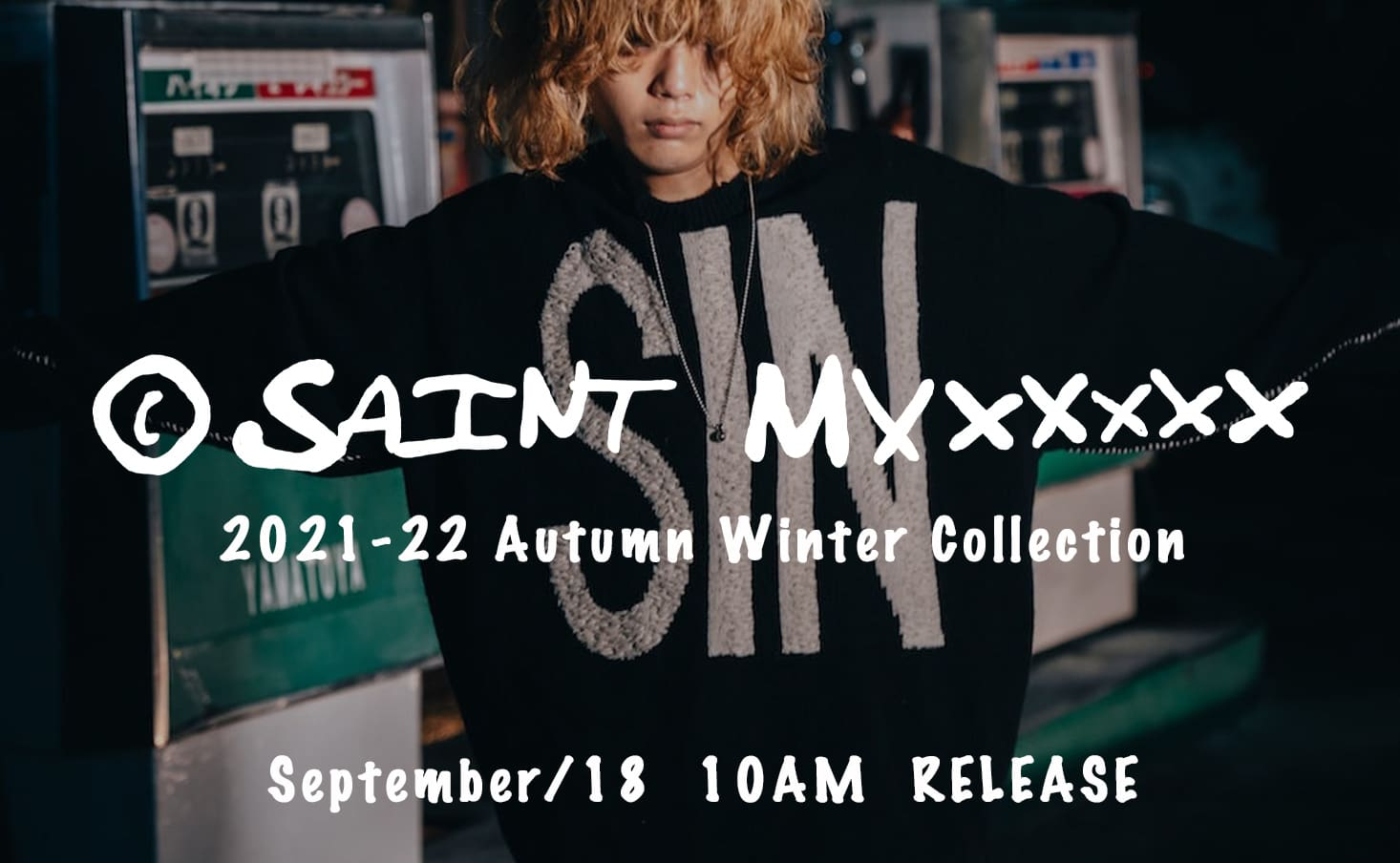 SAINT MICHAEL 2021-22 AW Collection will be available at 10 AM on September 18(Sat) in the store and our online shop site!