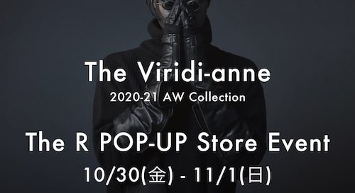 The Viridi-anne 20AW POP-UP イベント開催!!