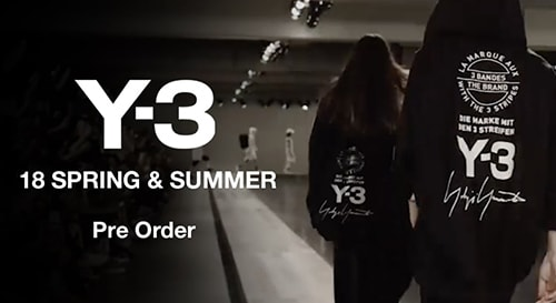 Y-3 2018SS collection