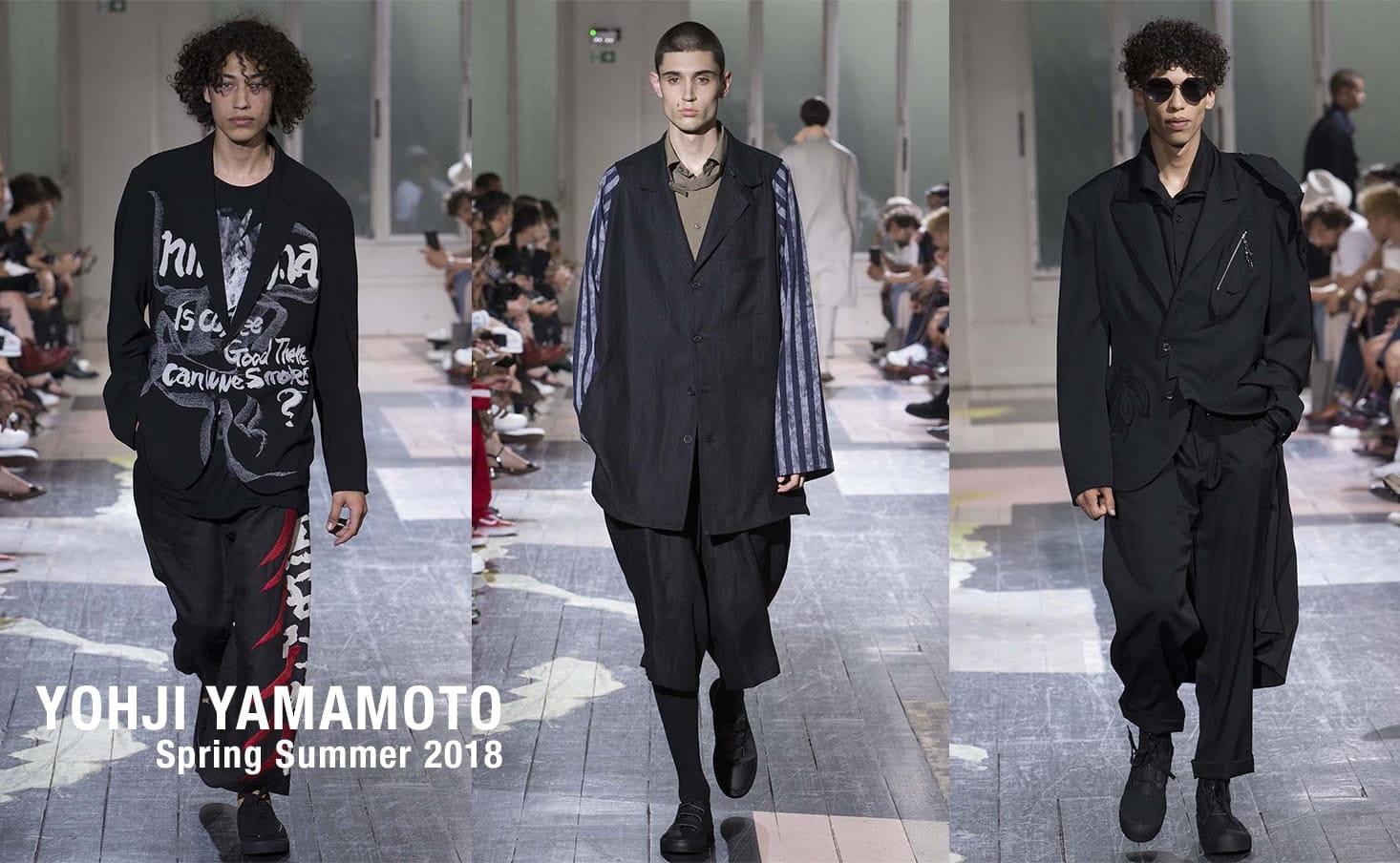 YOHJI YAMAMOTO 2018SS collection