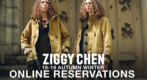 ZIGGY CHEN 18-19 aw collection reservation