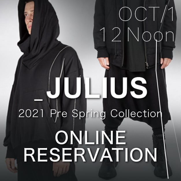 JULIUS 21 Pre Spring Collection Pre-orders Now Available!!