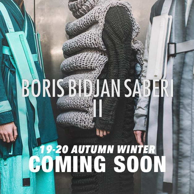 BORIS BIDJAN SABERI 19-20AW collection