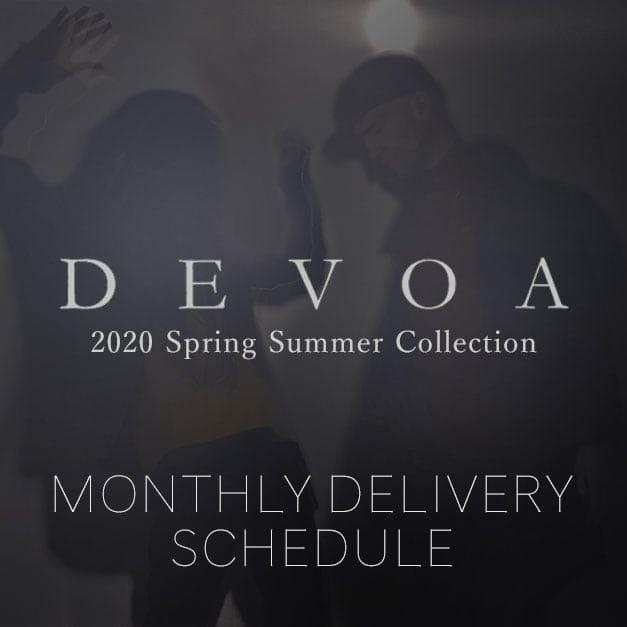 DEVOA 2020SS Delivery and Arrival List