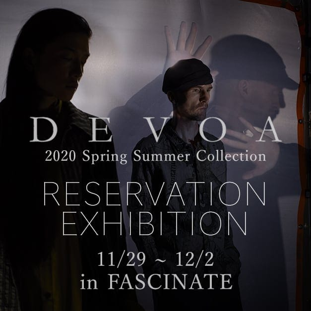 DEVOA 2020SS Reservation Exhibition Notice!