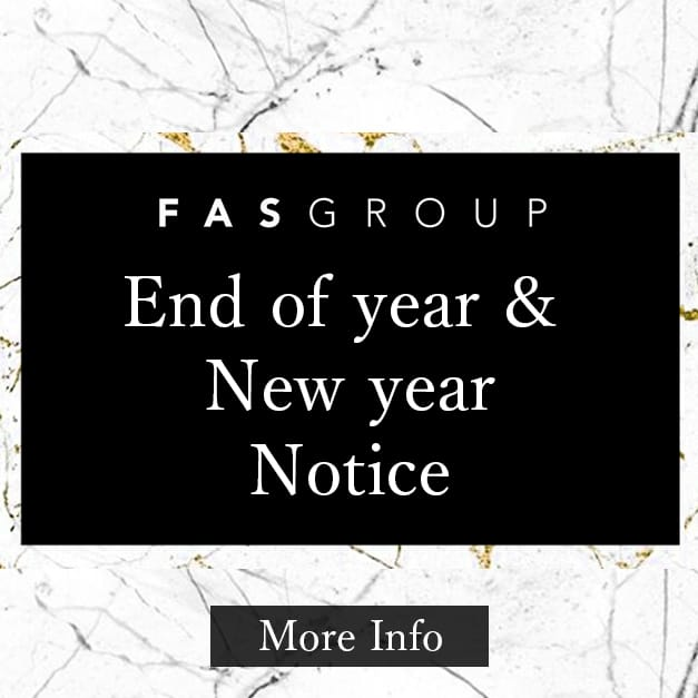 End of year and New year opening hours and shipping of orders Notice