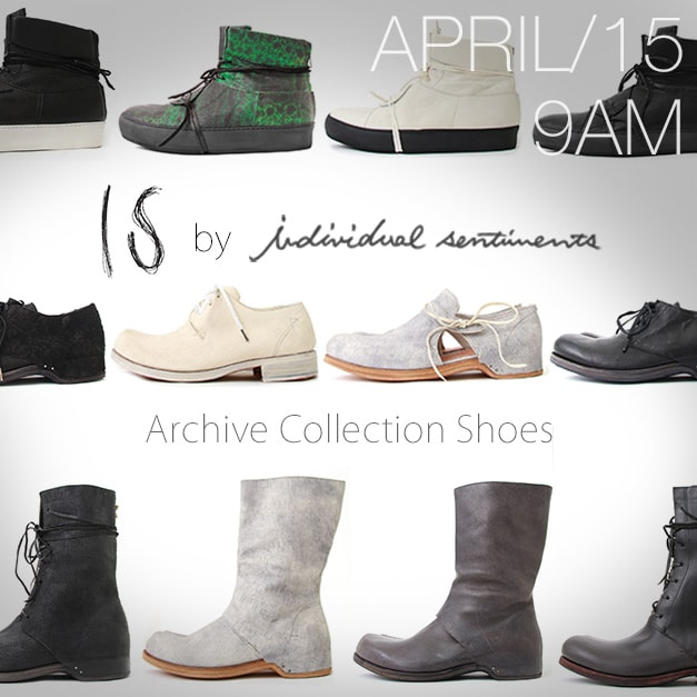 IS by individual sentiments Archive Collection Shoes
