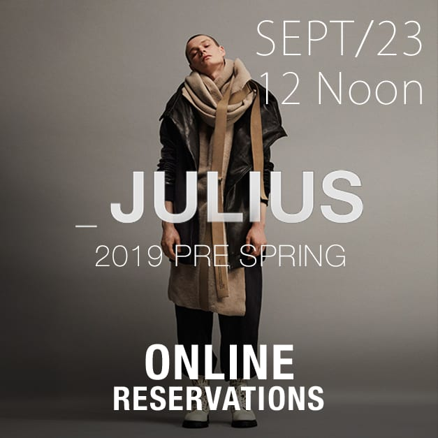 julius 2019 pre ss Online Reservations