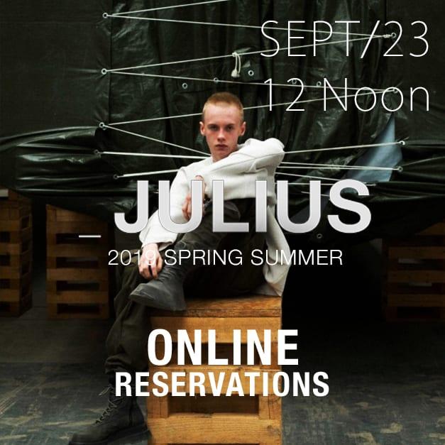 julius 2019ss Online Reservations