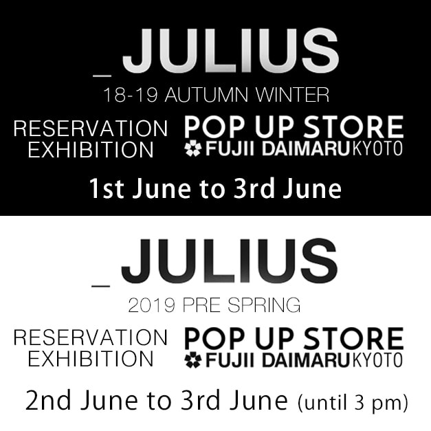 julius 2018-19 AW Collection 2019 Pre Spring Collection