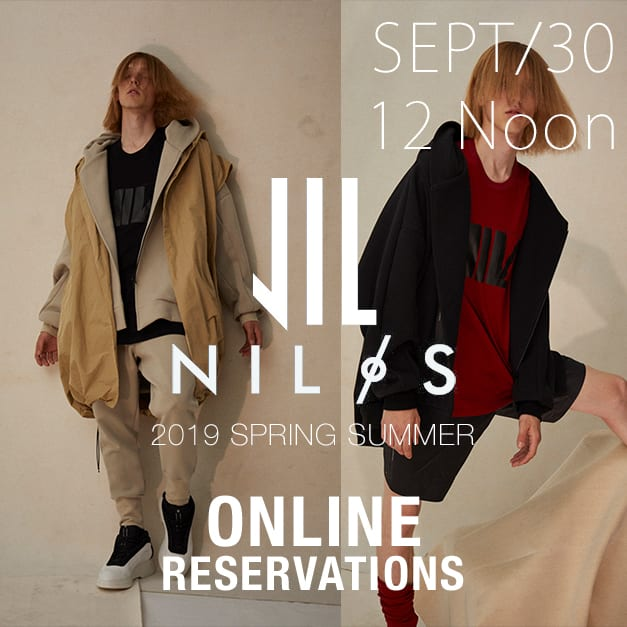 NILøS 2019ss Online Reservations