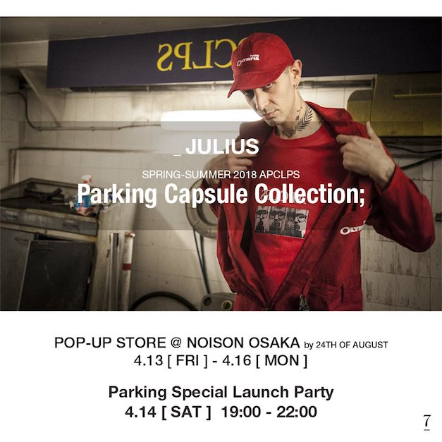 JuliusPARKING POP-UP STORE OSAKA