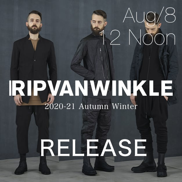 RIPVANWINKLE 20-21AW collection Release Notice