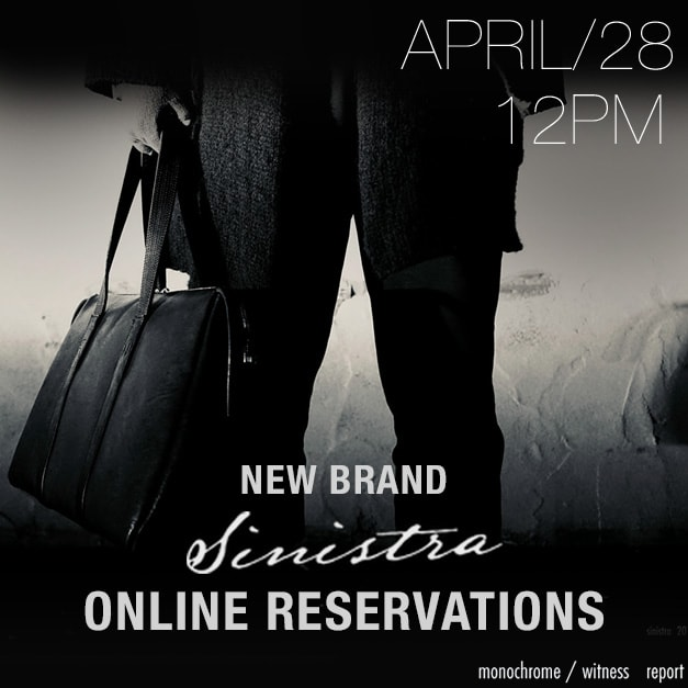 SINISTRA 18-19aw online reservation
