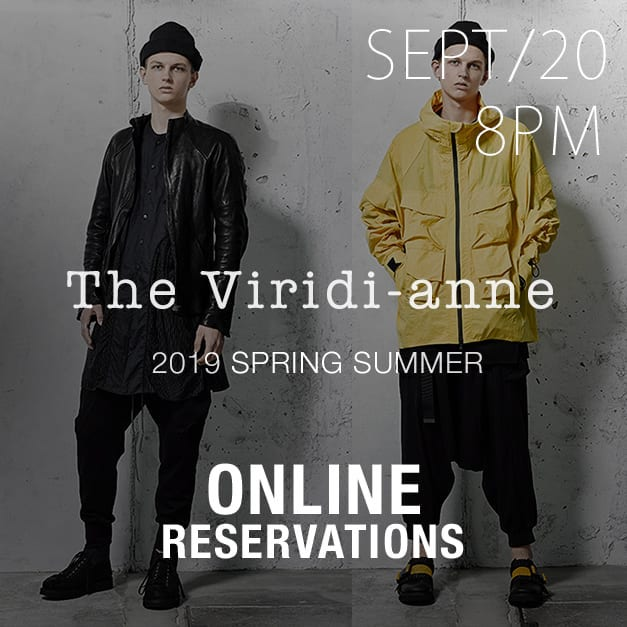 The Viridi-anne 2019ss Online Reservations