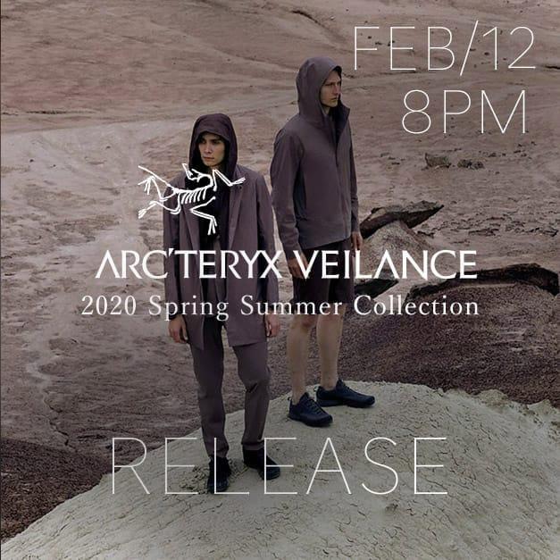 ARC'TERYX VEILANCE 2020SS Release Date Notice