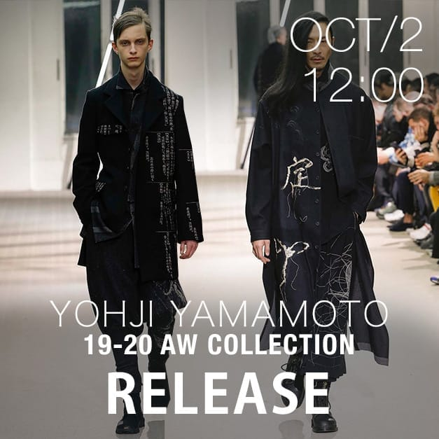 Yohji Yamamoto 19-20AW Release Date Notice