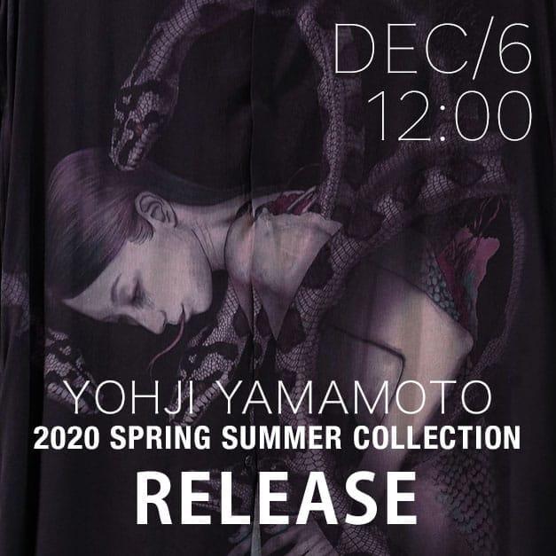 Yohji Yamamoto 20SS Release Date Notice